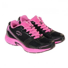 Zapatillas Running John Smith Racax Woman Negra - Rosa