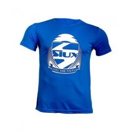 Camiseta Siux Entrenamiento Azul Logo Blanco