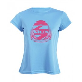 Camiseta Siux Mujer Entrenamiento Celeste
