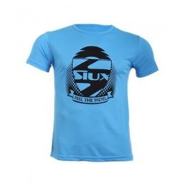 Camiseta Siux Entrenamieno Azul Celeste logo Negro