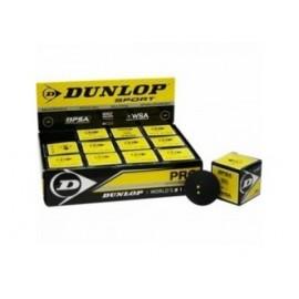 Pelota Squash Dunlop Pro 2 Puntos Amarillos.
