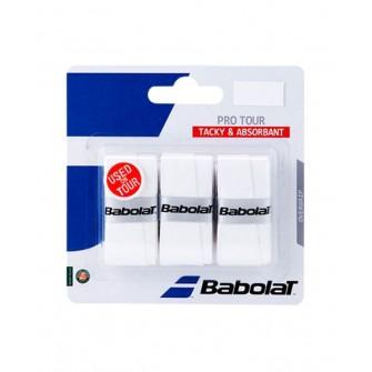 Babolat Overgrip Pro Tour X3 Blanco