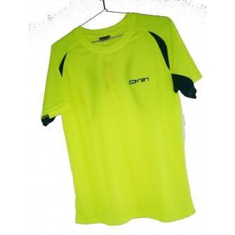 Camiseta Técnica Pro Amarillo Verde Rosa
