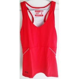 Camiseta Mujer Fitness WTK Rojo Negro