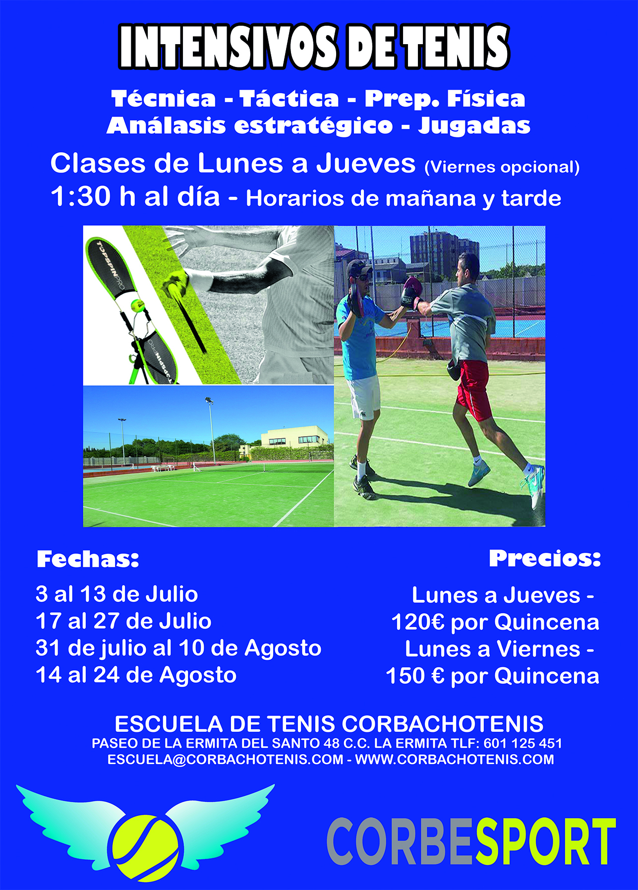 Cursos intensivos tenis madrid